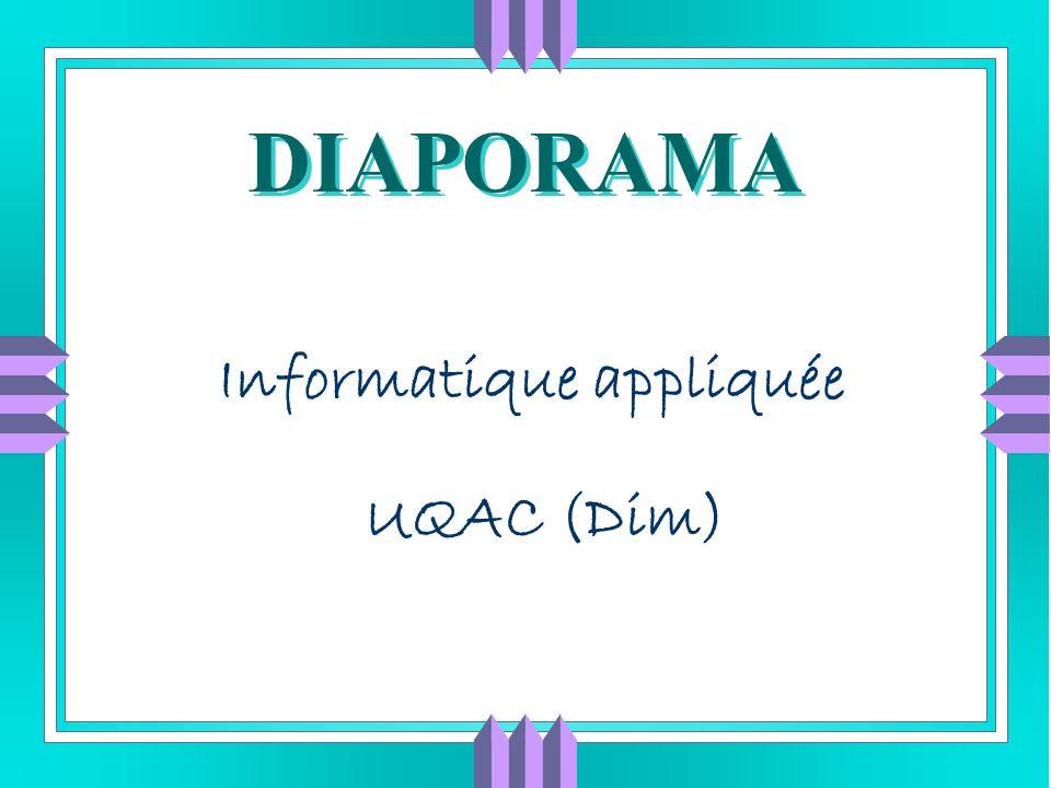 Informatique appliquée UQAC (Dim)