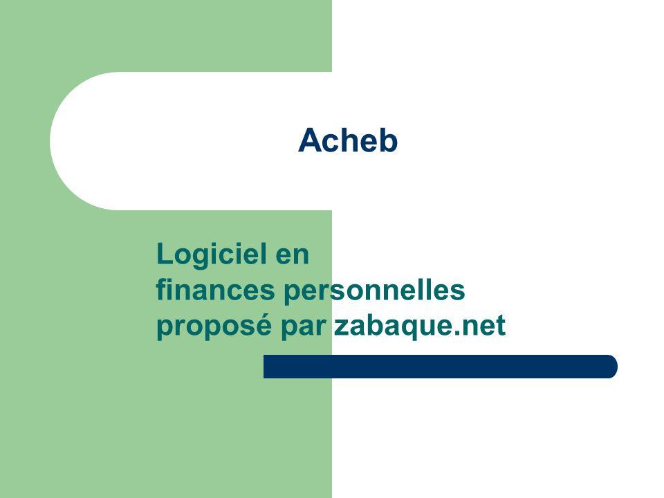 Logiciel en finances personnelles proposé par zabaque.net