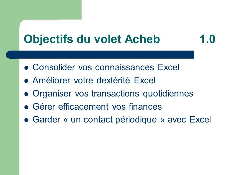 Objectifs du volet Acheb 1.0