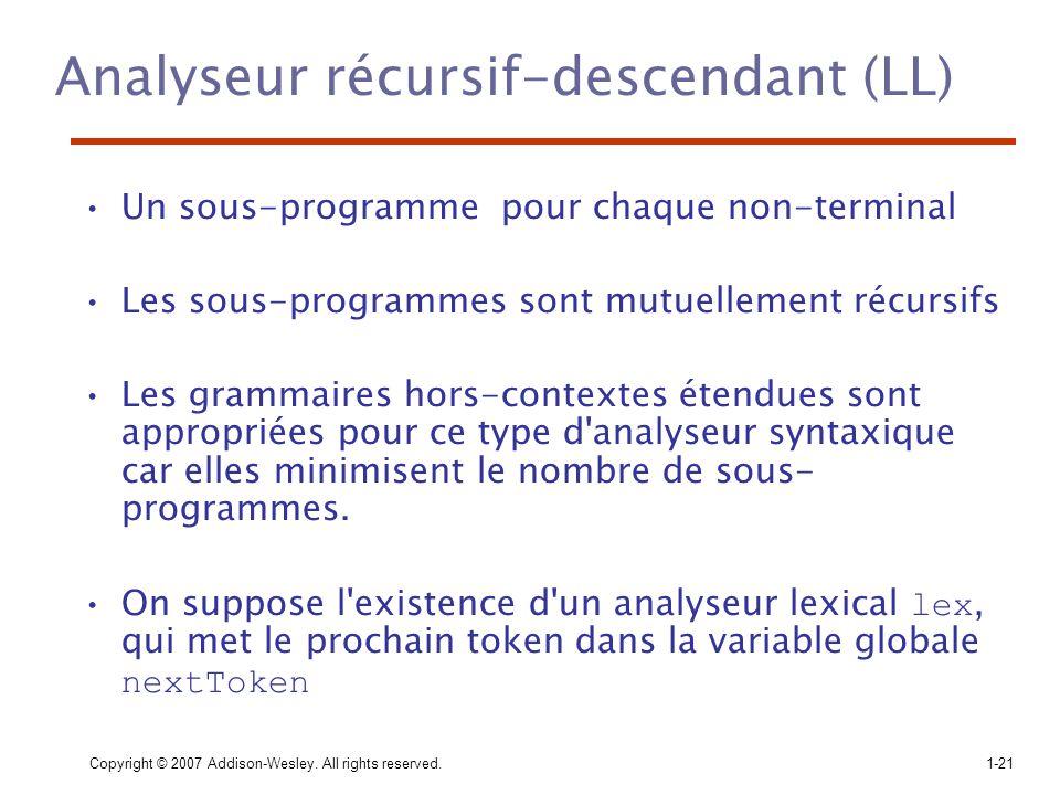Analyseur récursif-descendant (LL)