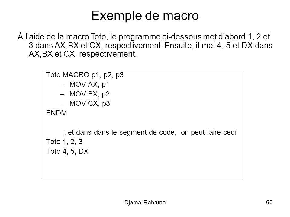 Exemple de macro