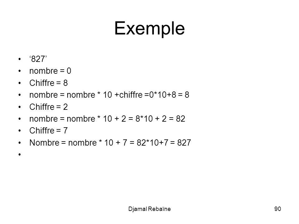 Exemple '827' nombre = 0 Chiffre = 8