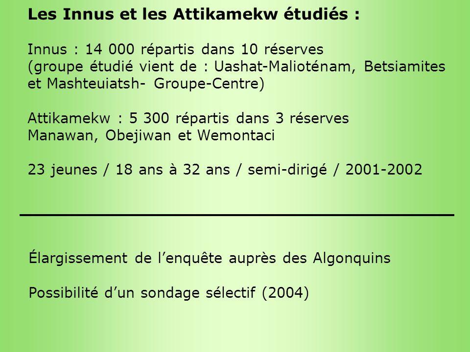 Les Innus et les Attikamekw étudiés :