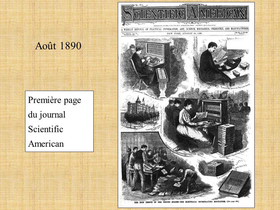Août 1890 Première page du journal Scientific American