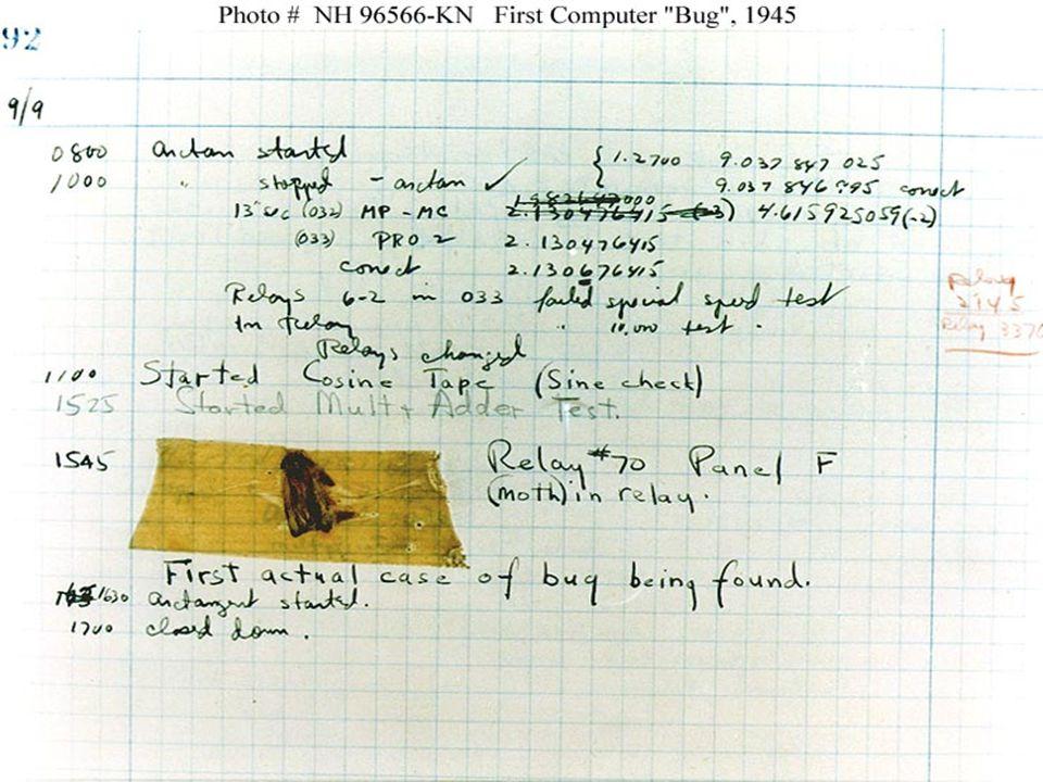 1945 Premier bug répertorié - 1945
