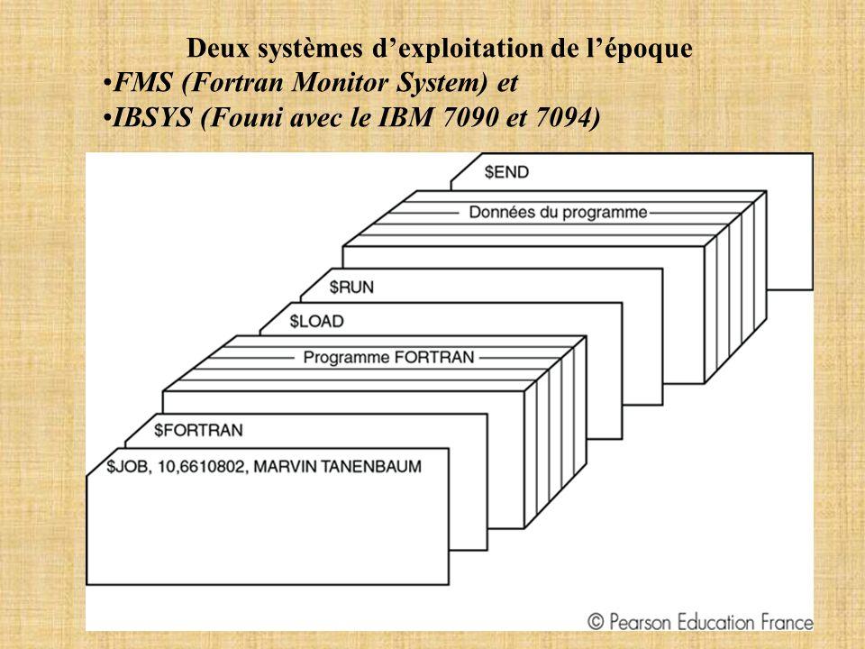 Deux systèmes d'exploitation de l'époque