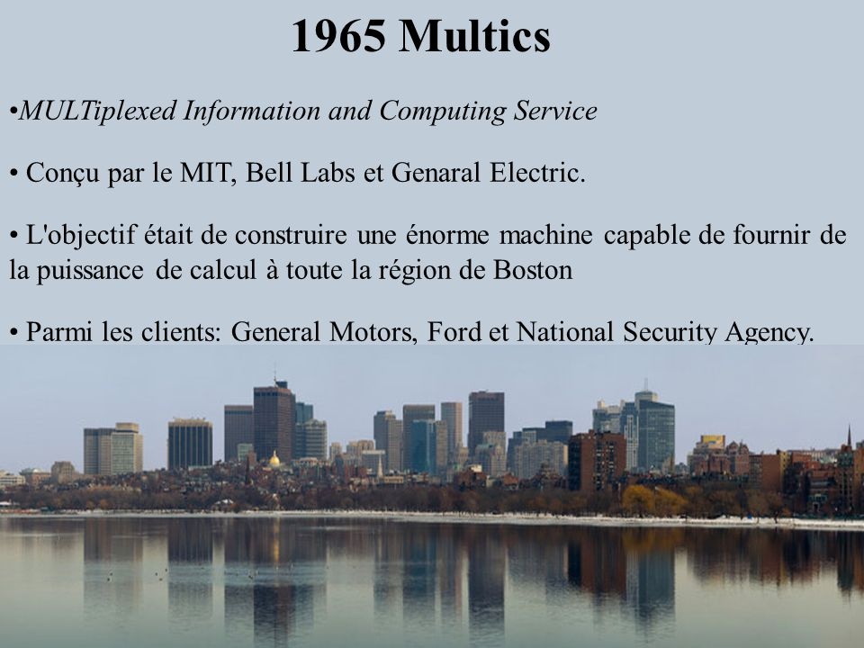 1965 Multics MULTiplexed Information and Computing Service