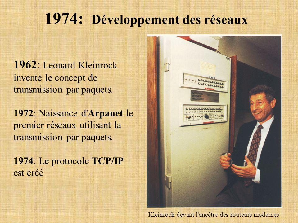 1974: Développement des réseaux