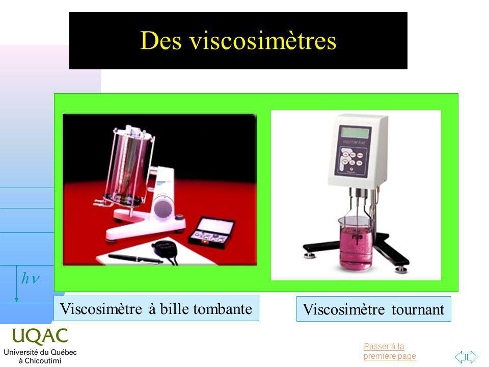 Des viscosimètres Viscosimètre à bille tombante Viscosimètre tournant