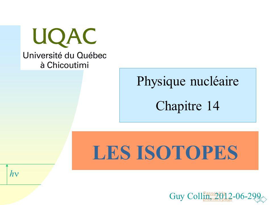 Physique nucléaire Chapitre 14