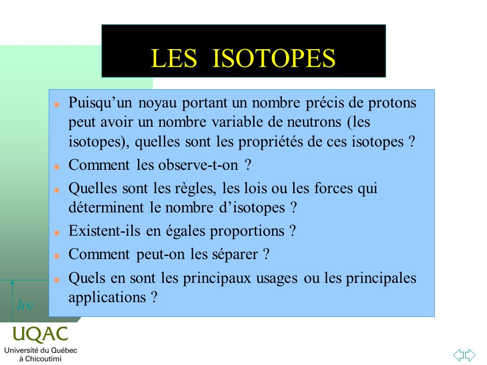 LES ISOTOPES