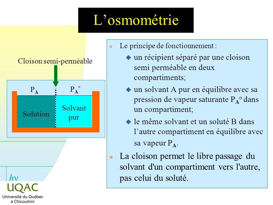 Cloison semi-perméable