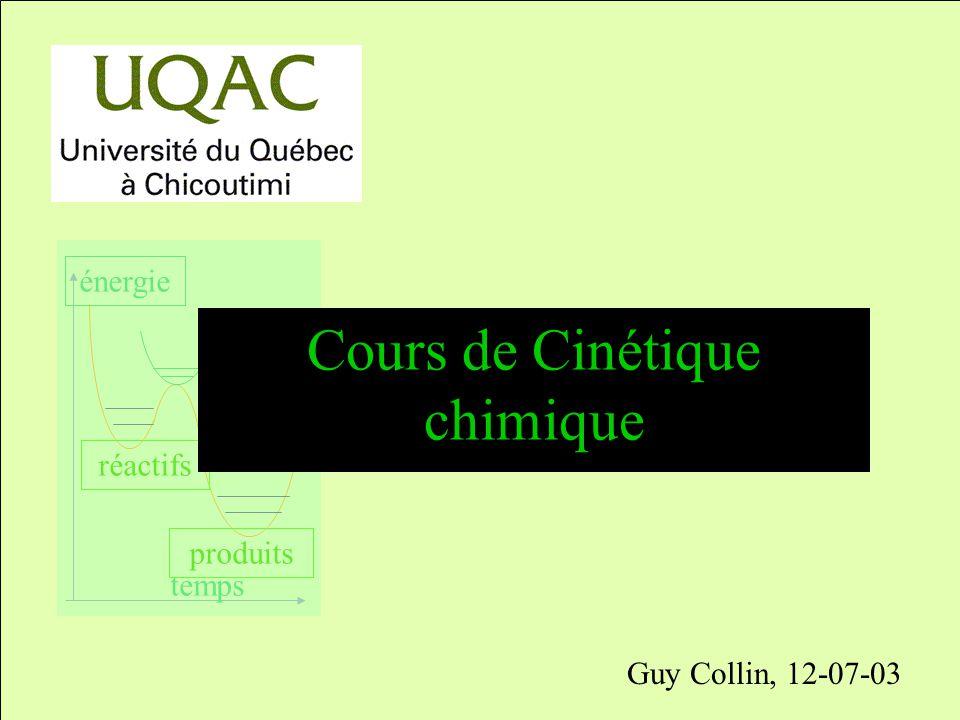 Cours de Cinétique chimique