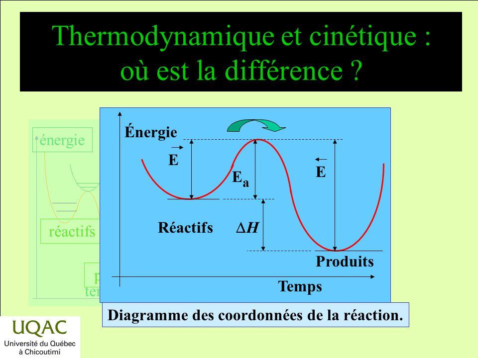 Thermodynamique et cinétique : où est la différence