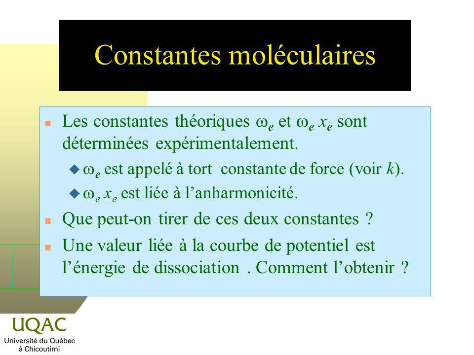 Constantes moléculaires