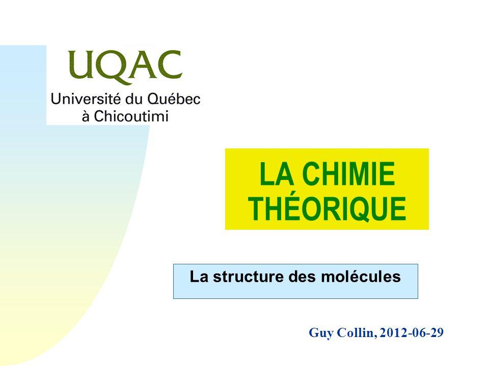 La structure des molécules