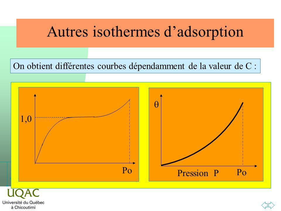Autres isothermes d'adsorption