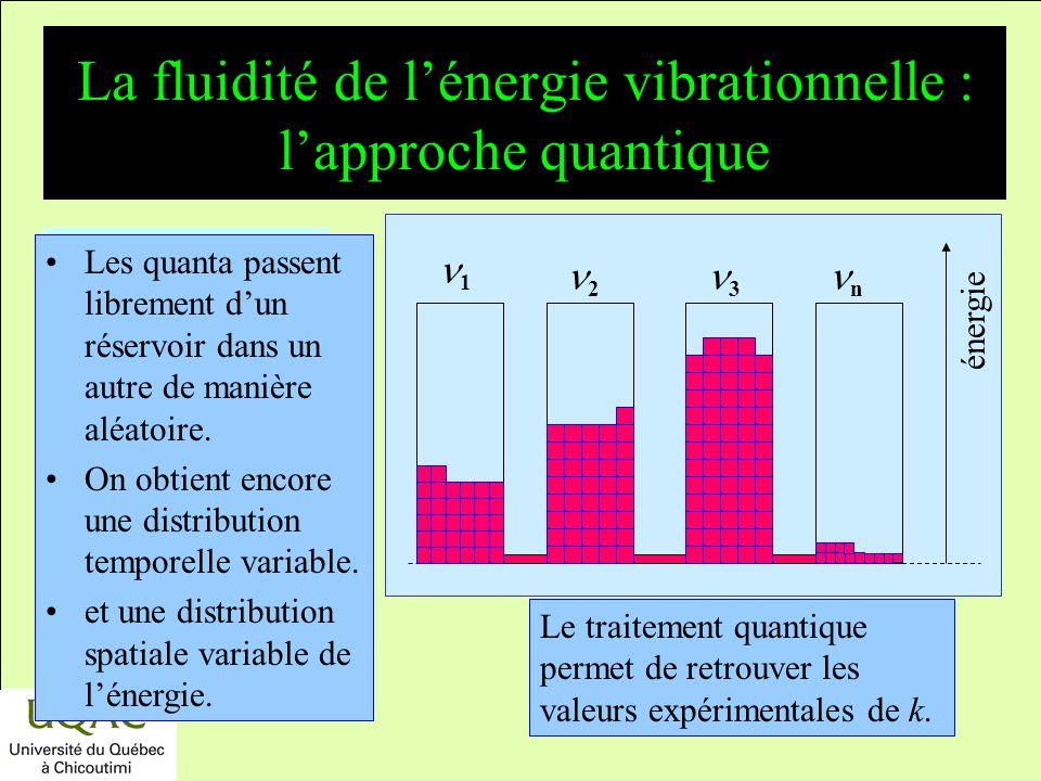 La fluidité de l'énergie vibrationnelle : l'approche quantique