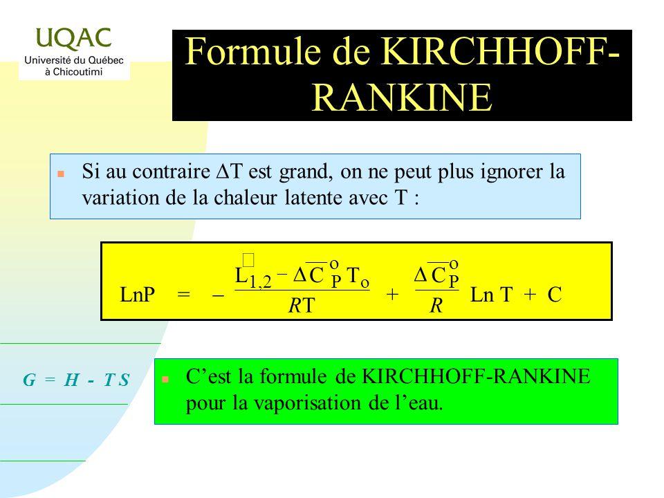 Formule de KIRCHHOFF-RANKINE