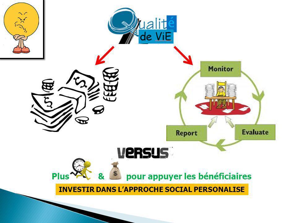 Plus & pour appuyer les bénéficiaires