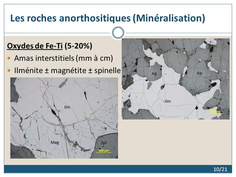 Les roches anorthositiques (Minéralisation)