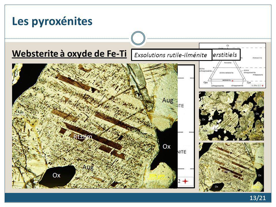 Les pyroxénites Websterite à oxyde de Fe-Ti