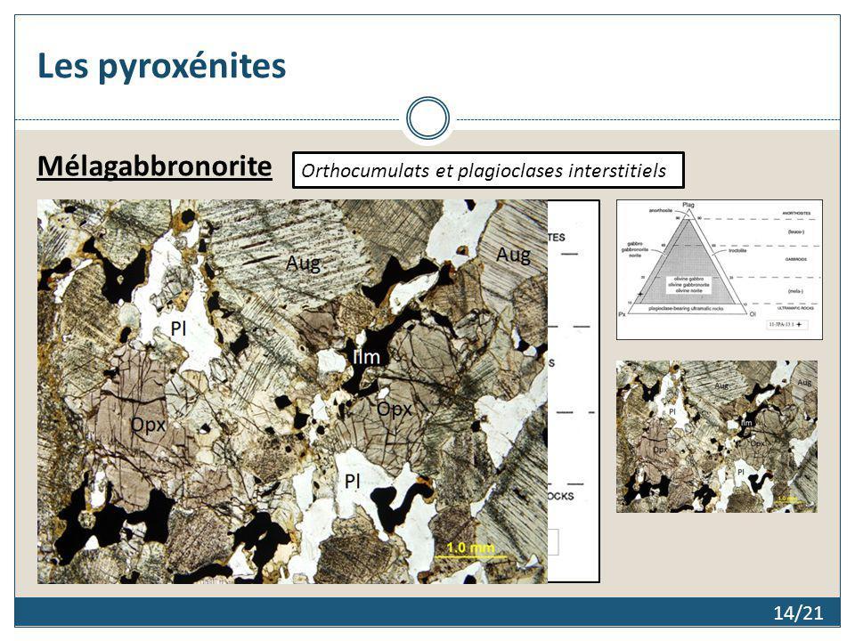 Les pyroxénites Mélagabbronorite