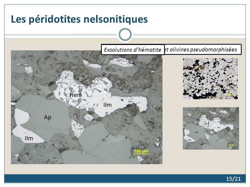 Les péridotites nelsonitiques