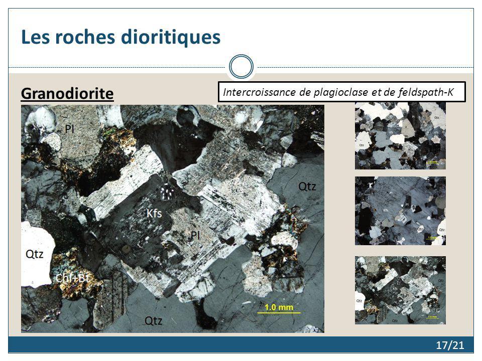 Les roches dioritiques