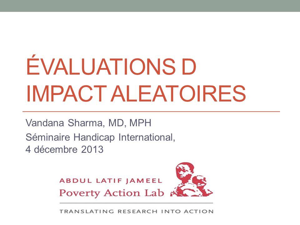 Évaluations d impact aleatoires