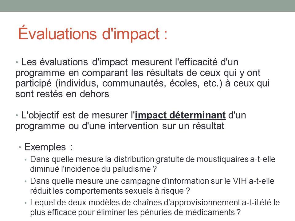 Évaluations d impact :