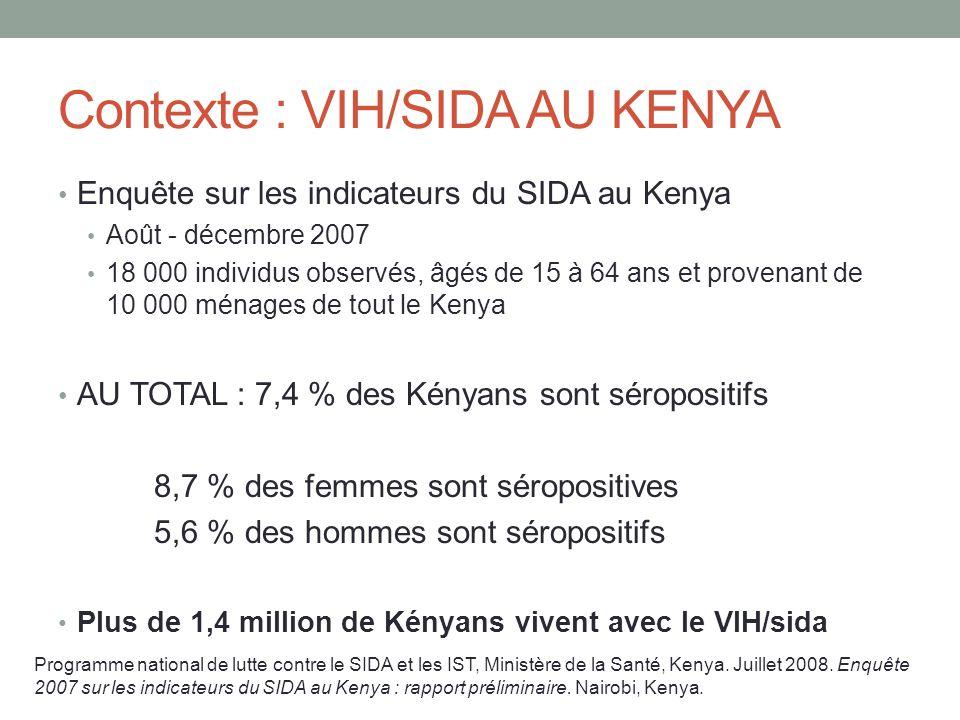 Contexte : VIH/SIDA AU KENYA