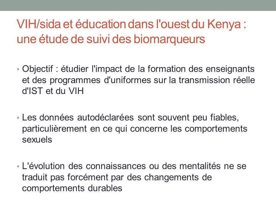 VIH/sida et éducation dans l ouest du Kenya : une étude de suivi des biomarqueurs