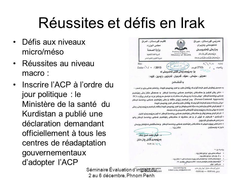 Réussites et défis en Irak