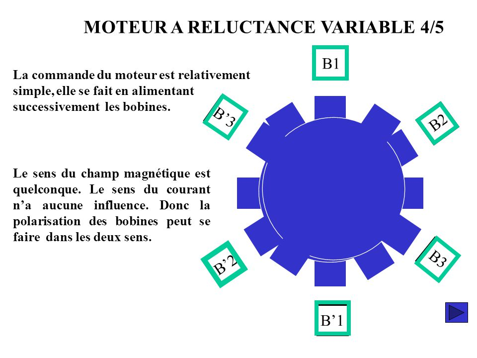 MOTEUR A RELUCTANCE VARIABLE 4/5