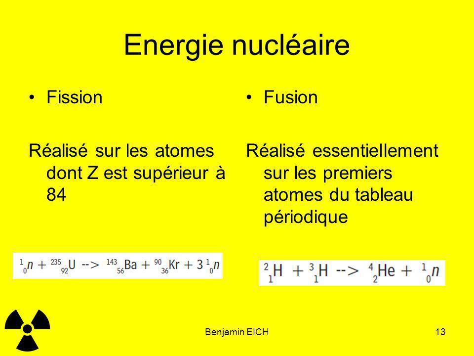Energie nucléaire Fission