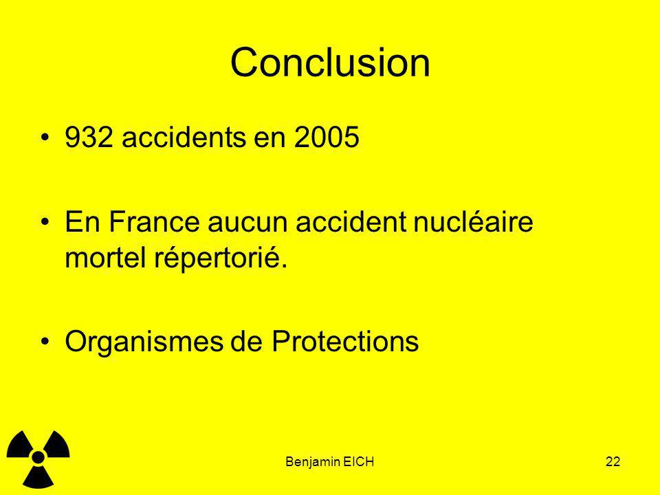 Conclusion 932 accidents en 2005