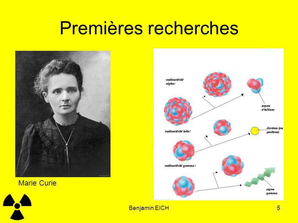 Premières recherches Marie Curie Benjamin EICH Benjamin EICH