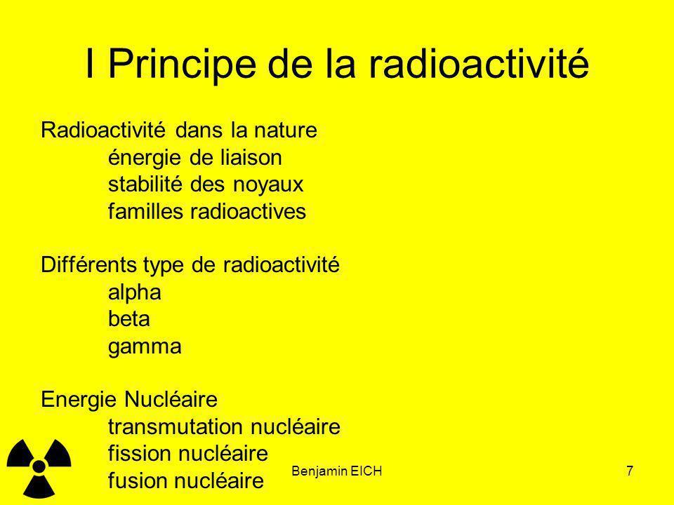 I Principe de la radioactivité