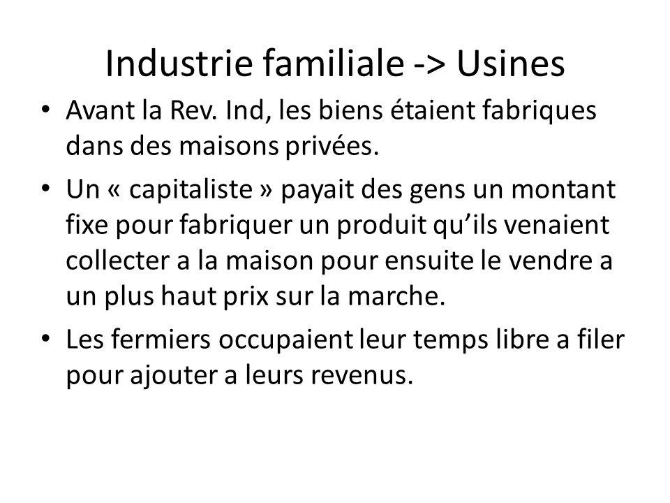 Industrie familiale -> Usines