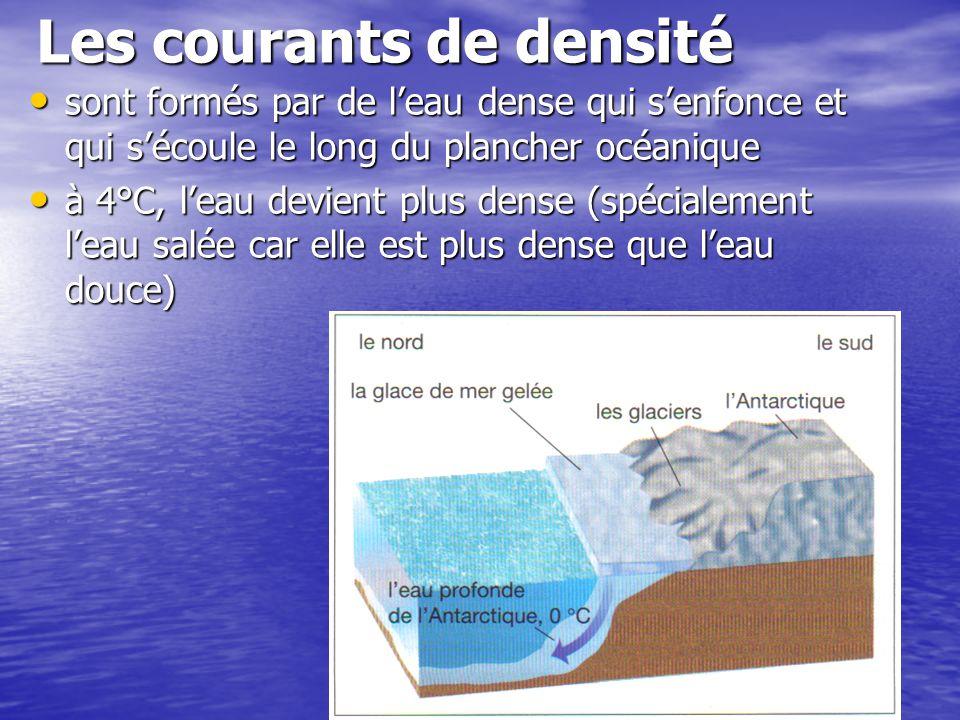 Les courants de densité