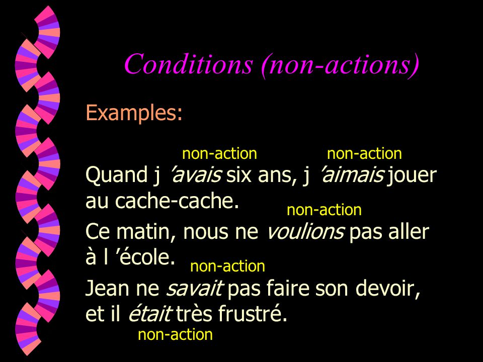 Conditions (non-actions)