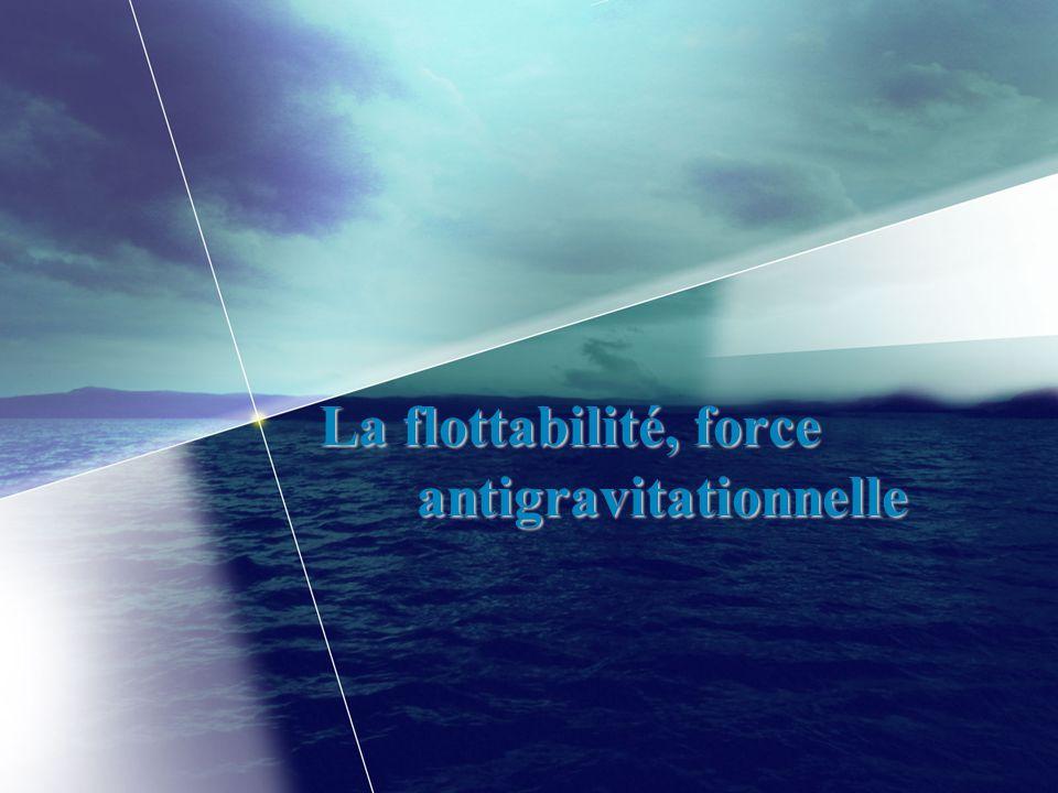 La flottabilité, force antigravitationnelle