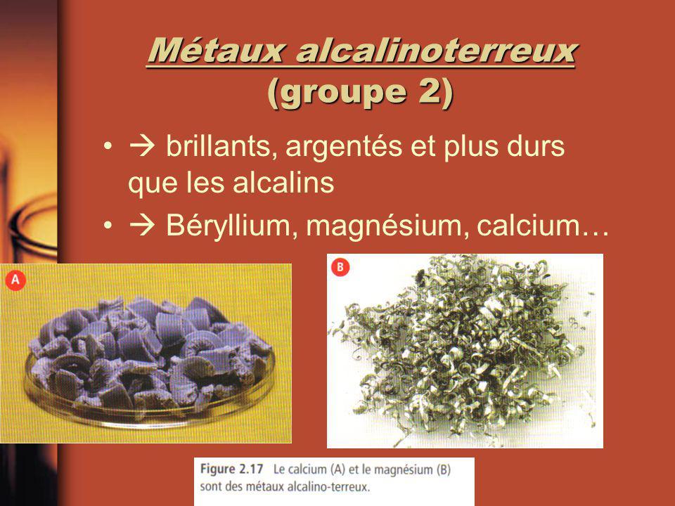 Métaux alcalinoterreux (groupe 2)