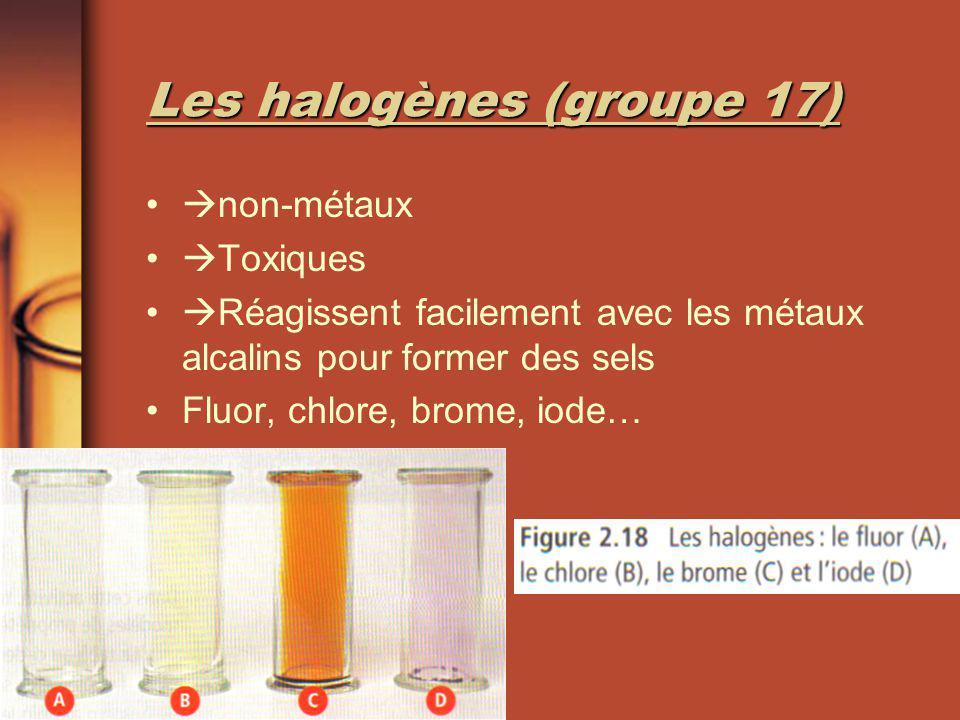 Les halogènes (groupe 17)