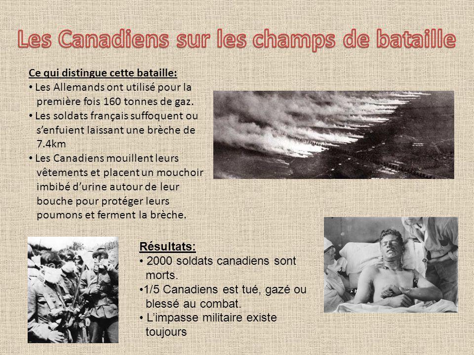 Les Canadiens sur les champs de bataille