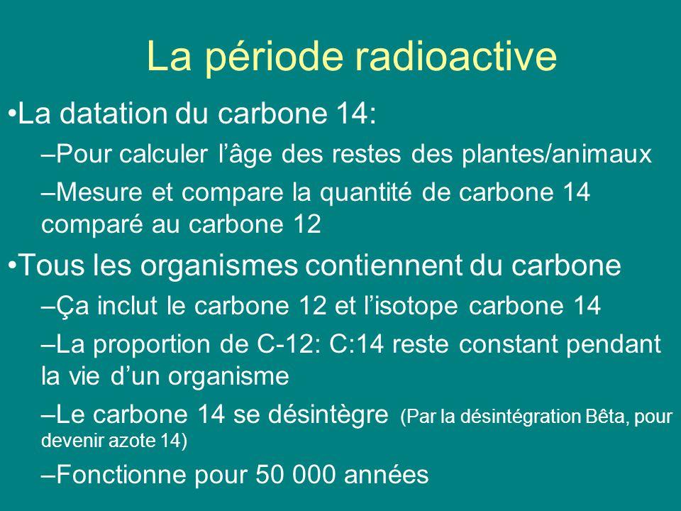 La période radioactive