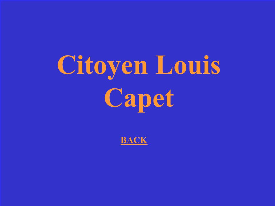 Citoyen Louis Capet BACK