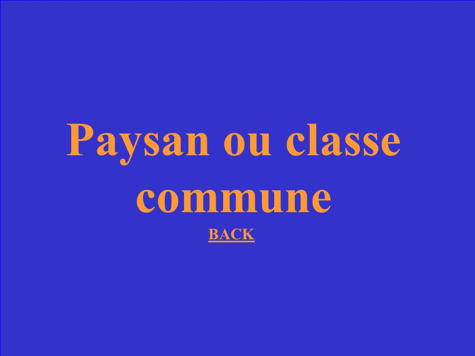 Paysan ou classe commune