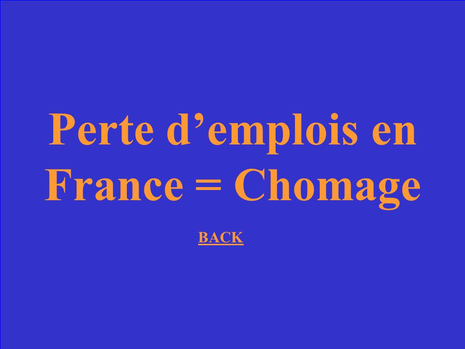 Perte d'emplois en France = Chomage